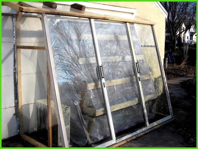 three scrap sliding glass doors recycled lumber and some acrylic glass ...